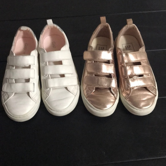 Gap Girls Sneaker White And Gold